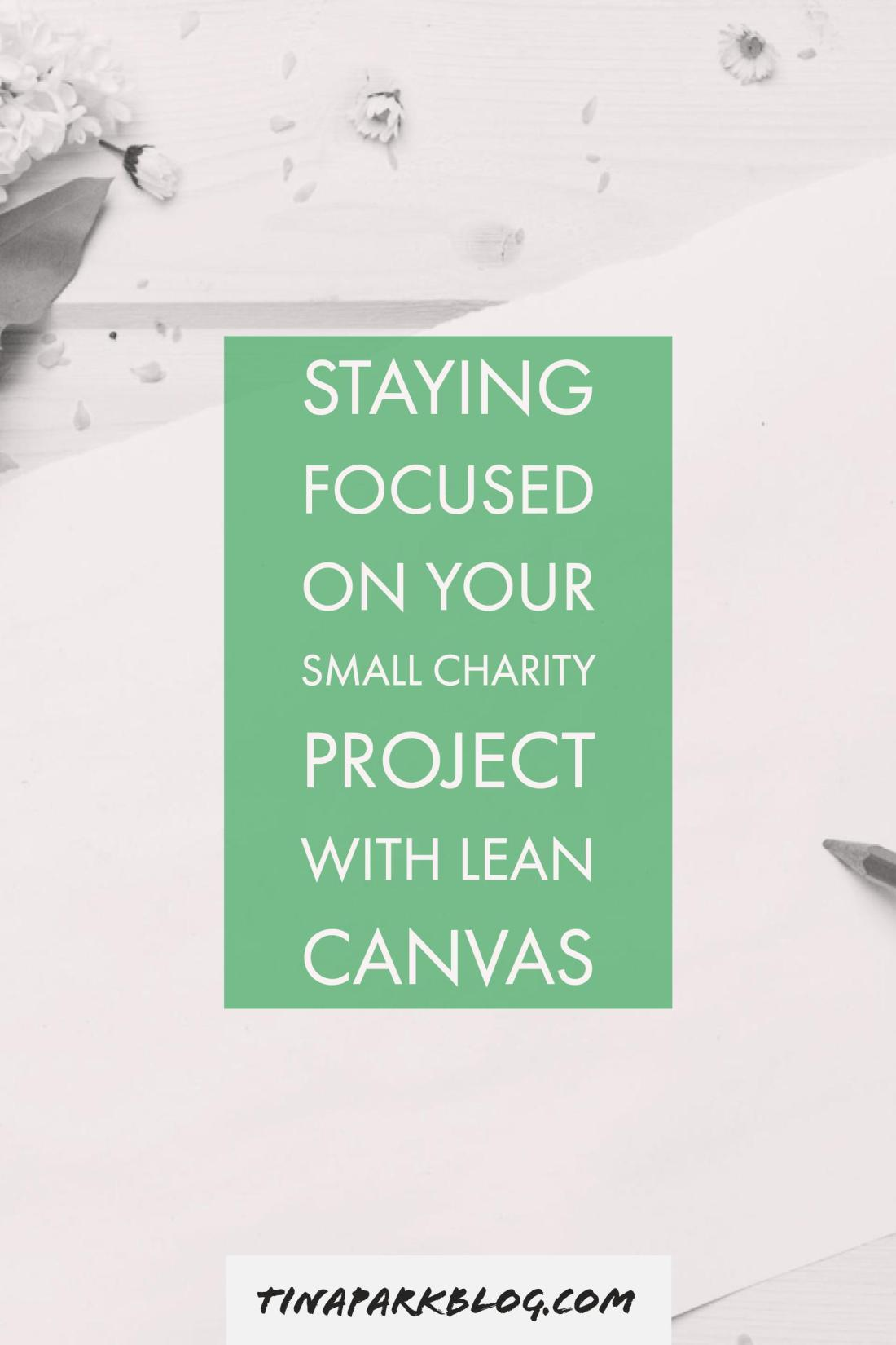Staying Focused on Your Small Charity Project with LeanCanvas